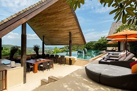 Poolside sala with breathtaking view