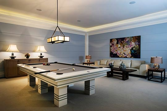 Billiard and  poker room